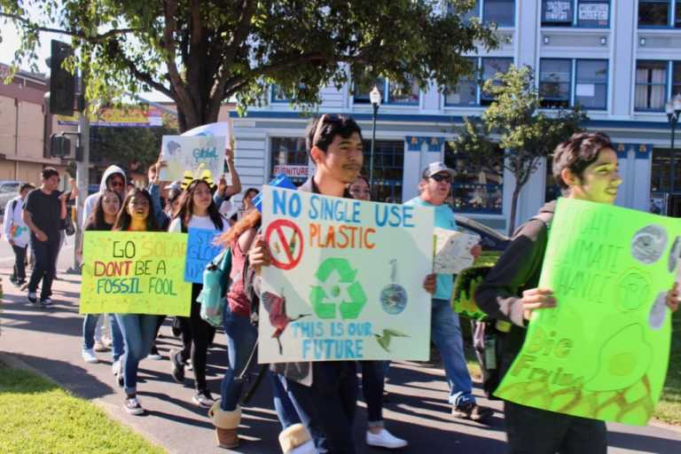Local youth participate in Global Climate Strike