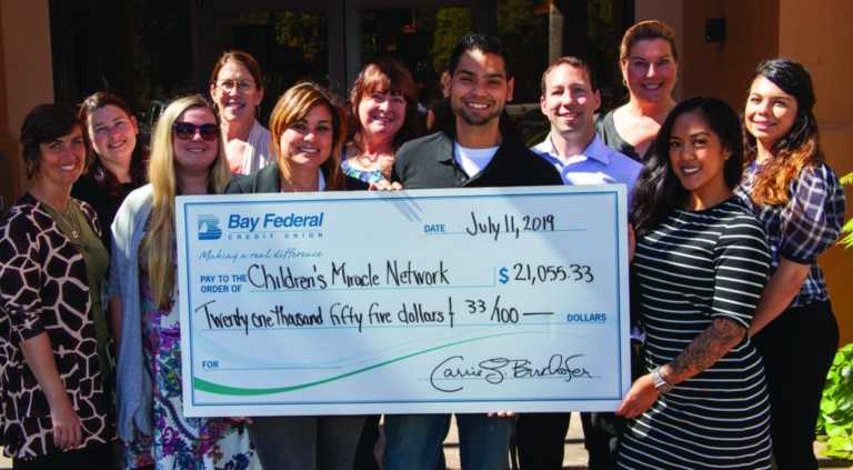 Bay Federal raises over $21,000 for Children's Miracle Network