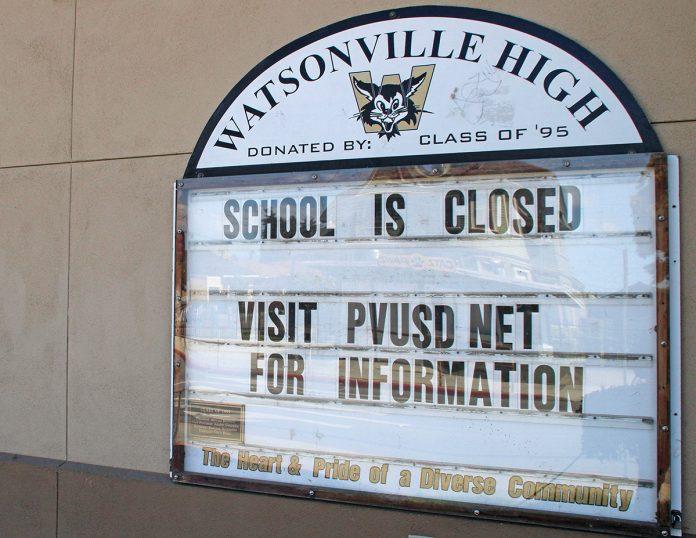 Watsonville school Covid-19 closures