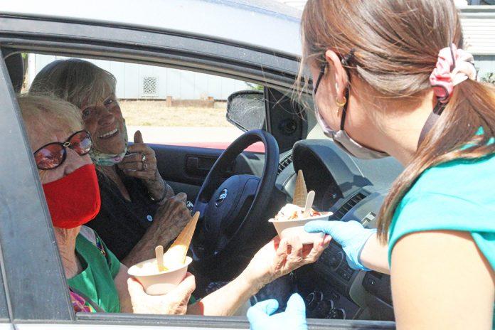 Watsonville drive-thru ice cream social