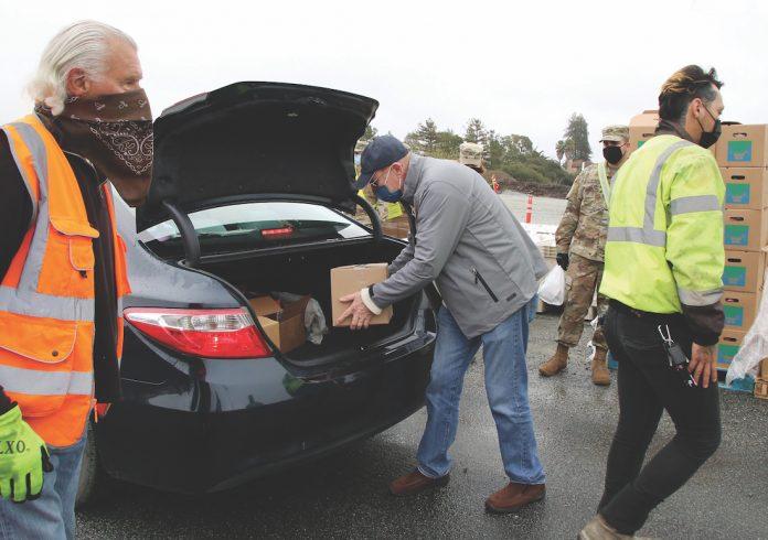 John Laird food bank distributions